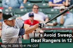 M's Avoid Sweep, Beat Rangers in 12