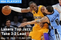 Lakers Top Jazz, Take 3-2 Lead