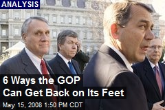 6 Ways the GOP Can Get Back on Its Feet
