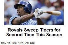 Royals Sweep Tigers for Second Time This Season