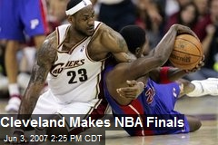 Cleveland Makes NBA Finals