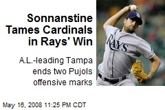 Sonnanstine Tames Cardinals in Rays' Win