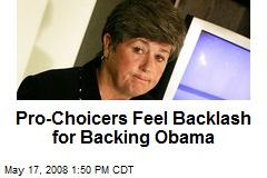 Pro-Choicers Feel Backlash for Backing Obama