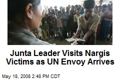 Junta Leader Visits Nargis Victims as UN Envoy Arrives