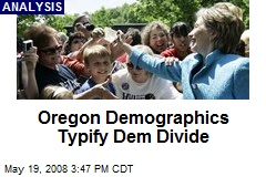 Oregon Demographics Typify Dem Divide