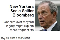 New Yorkers See a Saltier Bloomberg