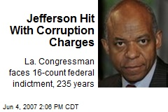 Jefferson Hit With Corruption Charges