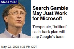 Search Gamble May Just Work for Microsoft