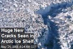 Huge New Cracks Seen in Arctic Ice Shelf