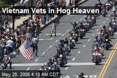 Vietnam Vets in Hog Heaven
