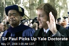 Sir Paul Picks Up Yale Doctorate