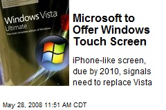 Microsoft to Offer Windows Touch Screen