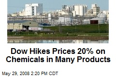 Dow Hikes Prices 20% on Chemicals in Many Products