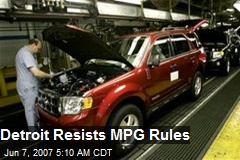 Detroit Resists MPG Rules