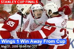Wings 1 Win Away From Cup