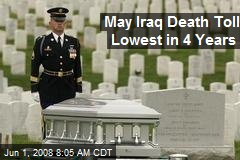May Iraq Death Toll Lowest in 4 Years