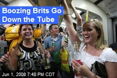 Boozing Brits Go Down the Tube
