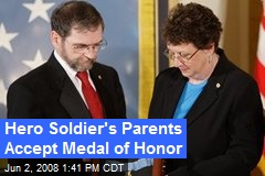 Hero Soldier's Parents Accept Medal of Honor
