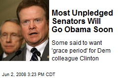 Most Unpledged Senators Will Go Obama Soon
