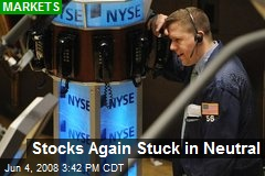 Stocks Again Stuck in Neutral