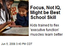 Focus, Not IQ, Might be Best School Skill