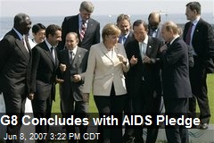 G8 Concludes with AIDS Pledge
