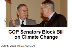 GOP Senators Block Bill on Climate Change