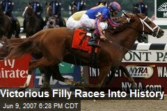 Victorious Filly Races Into History