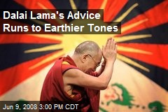 Dalai Lama's Advice Runs to Earthier Tones