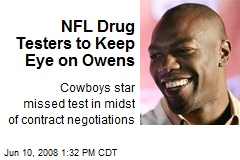 NFL Drug Testers to Keep Eye on Owens
