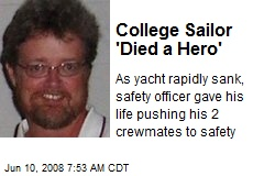 College Sailor 'Died a Hero'