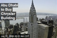 Abu Dhabi to Buy Chrysler Building