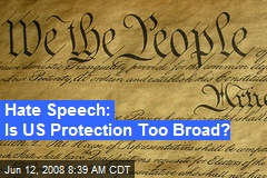 Hate Speech: Is US Protection Too Broad?