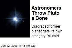 Astronomers Throw Pluto a Bone