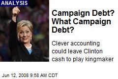 Campaign Debt? What Campaign Debt?