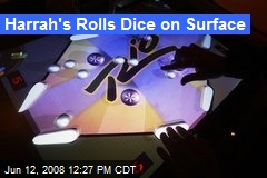 Harrah's Rolls Dice on Surface
