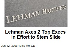 Lehman Axes 2 Top Execs in Effort to Stem Slide