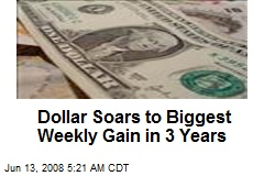 Dollar Soars to Biggest Weekly Gain in 3 Years