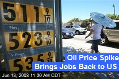 Oil Price Spike Brings Jobs Back to US