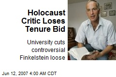 Holocaust Critic Loses Tenure Bid