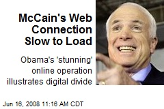 McCain's Web Connection Slow to Load