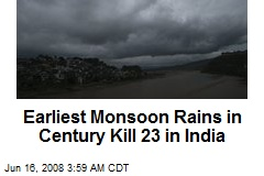 Earliest Monsoon Rains in Century Kill 23 in India