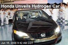 Honda Unveils Hydrogen Car