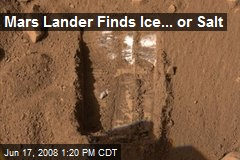Mars Lander Finds Ice... or Salt