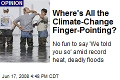 Where's All the Climate-Change Finger-Pointing?