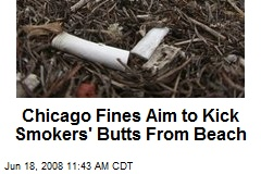 Chicago Fines Aim to Kick Smokers' Butts From Beach