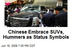 Chinese Embrace SUVs, Hummers as Status Symbols