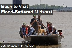 Bush to Visit Flood-Battered Midwest