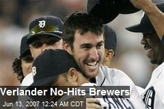 Verlander No-Hits Brewers