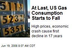 At Last, US Gas Consumption Starts to Fall